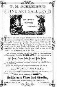 Advertisement of T. M. Schleier, 1878 Chattanooga city directory, p. 90