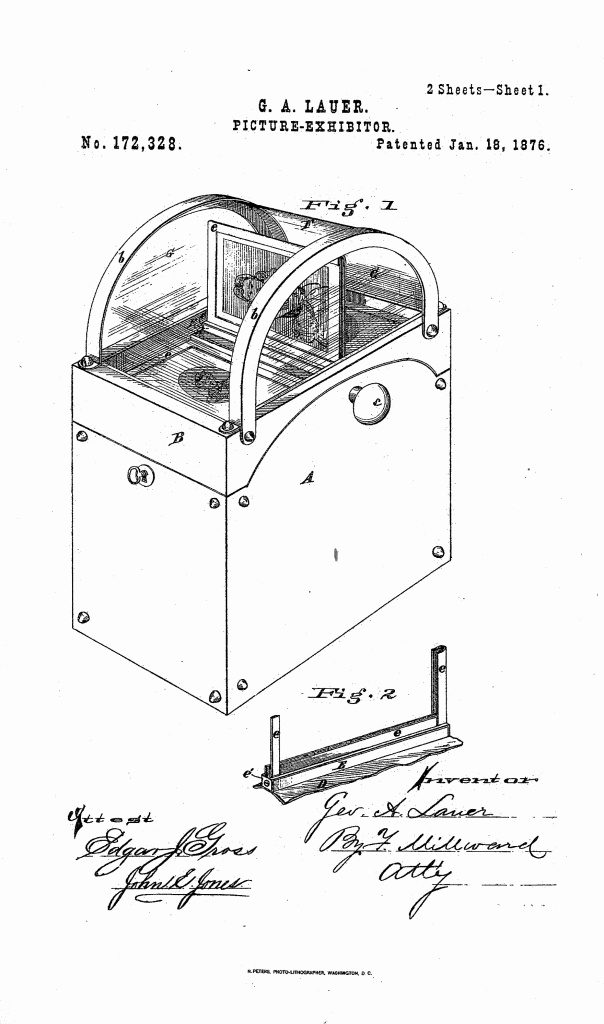 lauer-patent-1876-page-one