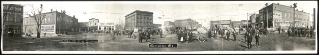 Carrollton, Georgia, panorama, gelatin silver print by O.V. Fowler, for C.F. McDannell, copyright claimant, ca. 1912; Library of Congress Prints & Photographs Division, PAN US GEOG - Georgia no. 1 (F size)
