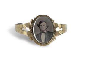 10A Gold14K woman's bracelet w:gent tintype