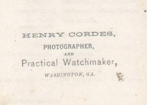 21 Cordes, Henry backmark, c1870