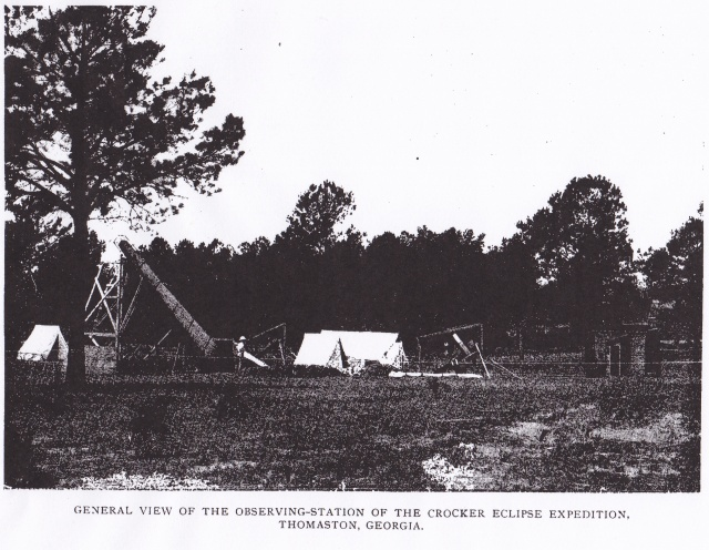 Eclipse observing station, Thomaston 1900, ASP