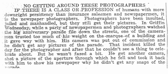 Newspaper photographers 1930