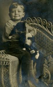 Howard Brown, Jr. and cat 1909