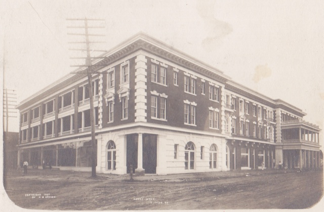 Brown, H.W., Tifton Hotel Myon detail RPPC