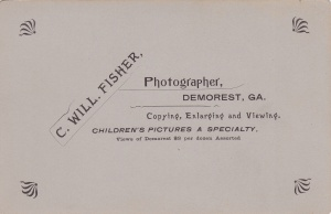 Fisher, C.W. DemorestGirlCabBack