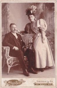 Wilson & Royall cab 1896 stylish couple