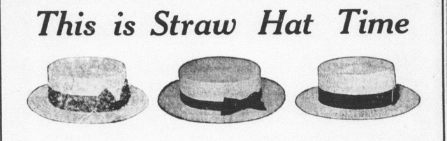 Hats advertCarrollFreePress1914 detail