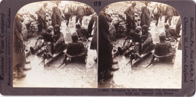 Keystone View Co. stereo Wounded WWI c1918