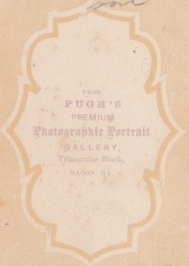 Pugh's Gallery cdv backmark