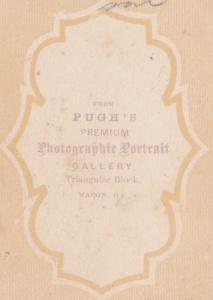 Pugh's Gallery cdv backmark