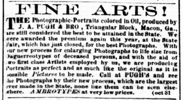 Pugh & Bro., Macon, GA Jnl.&Mesgr,, 31 Oct.1860
