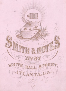 Smith & Motes, cdv back detail c1873