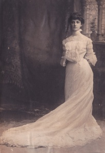Lenney, Loiette Keim in wedding dress, c1892-93_0002